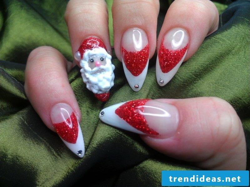 Ideas for beautiful gel nails for St. Nicholas Day