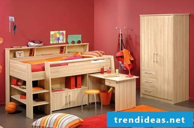 wall design nursery red nursery ideas bed wood