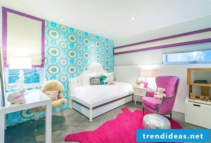 decorate children's room ideas girl wall design carpet nursery room