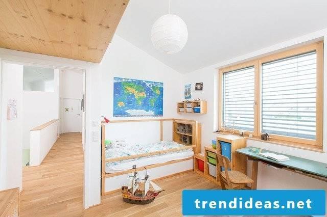 children's room ideas bed wood white wall design nursery scandinavian decor