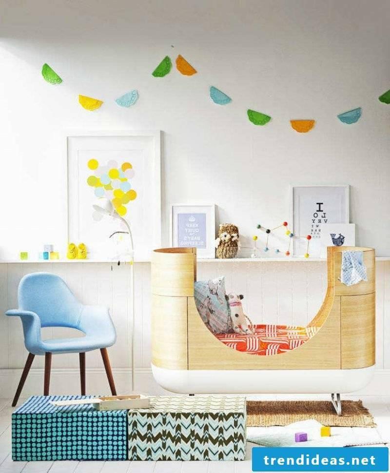 children's room ideas cot design deco children's room set up