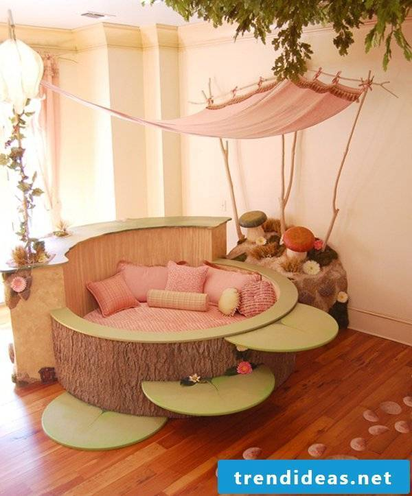 children's room ideas bed nursery decorating pink wall paint
