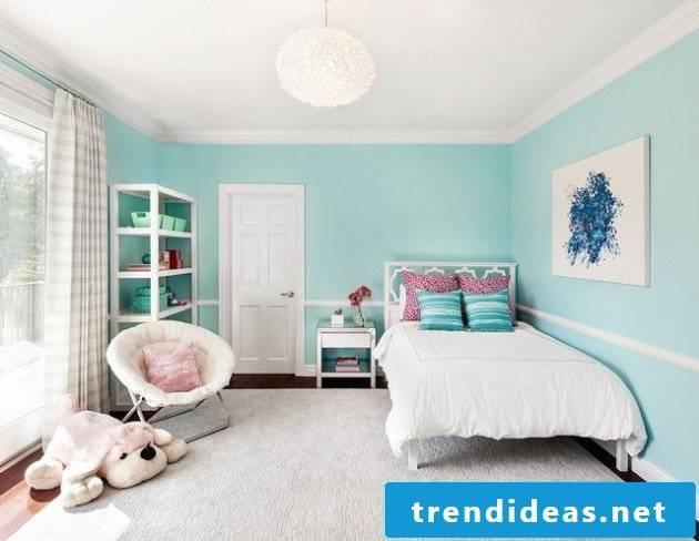 children's room ideas bright blue wall design nursery design