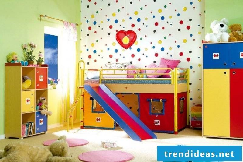 nursery decorating ideas nursery colorful wallpaper bed