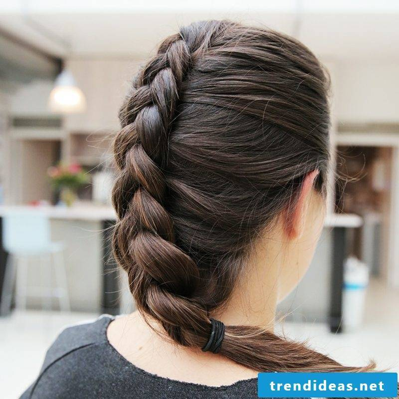 Flechtfrisuren Oktoberfest Dutch braid instructions