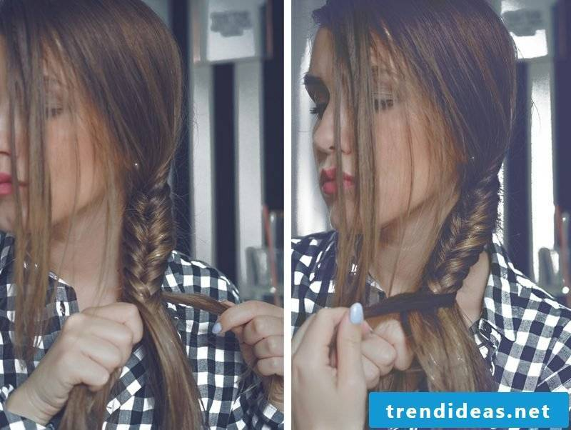 Oktoberfest Dirndl the best hairstyles herringbone