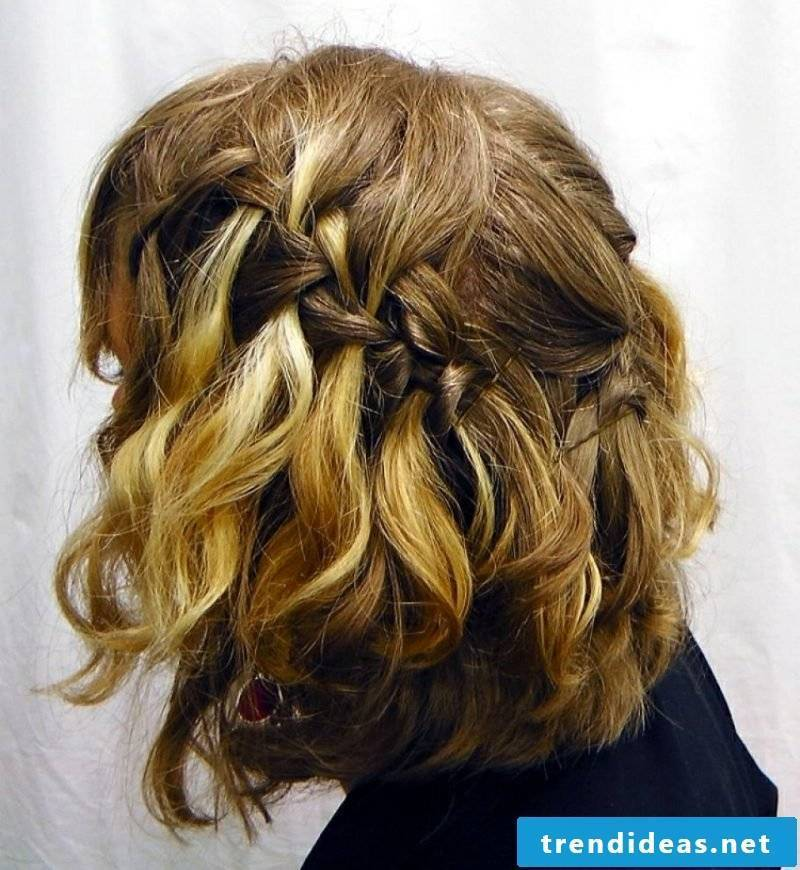 half-open hairstyles Waterfall braid medium-long hair