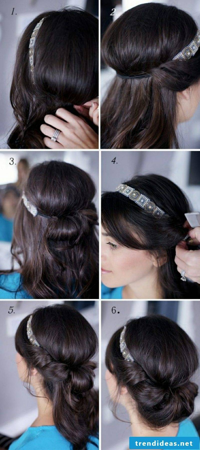 Make hairstyles yourself Oktoberfest instructions in pictures