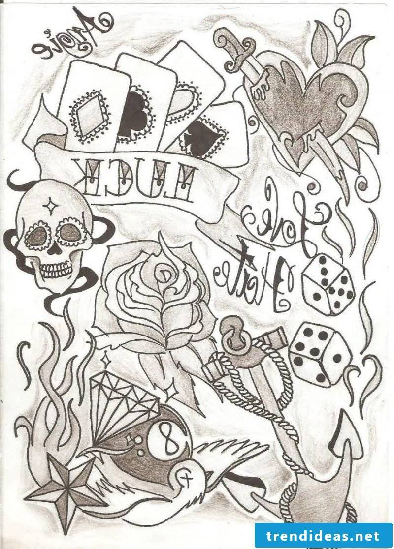 Old School Tattoo Motives