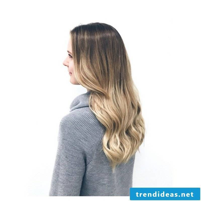 Ombre look long hair curly