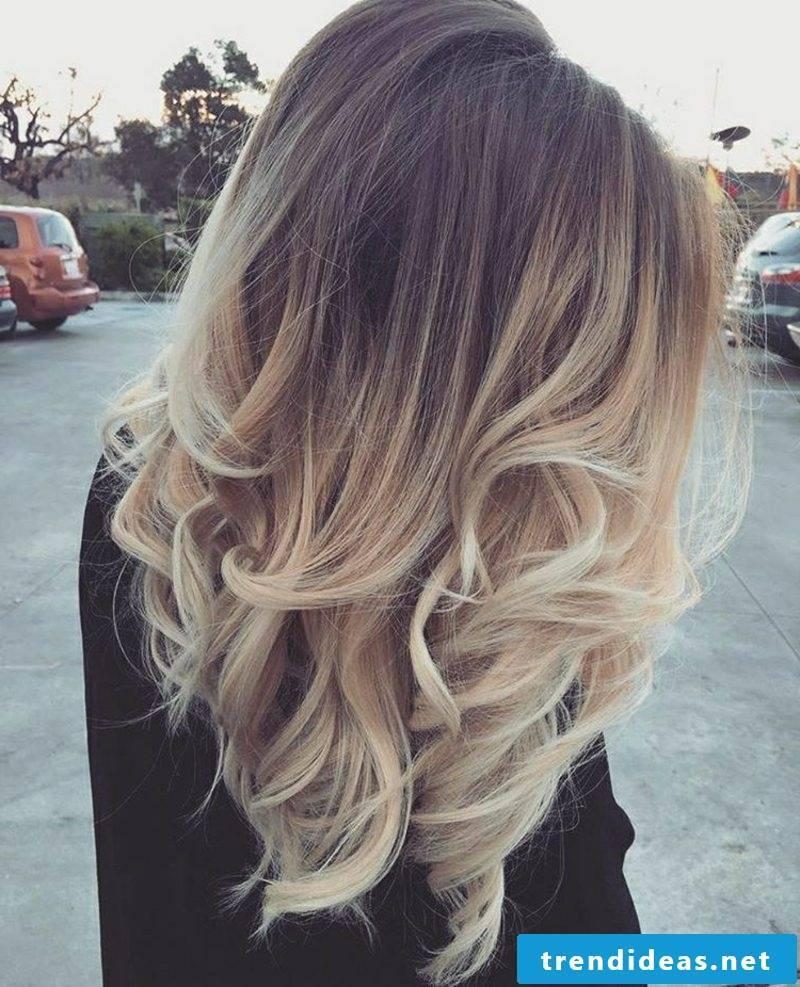 Ombre Look Balayage blond brown medium-long hair