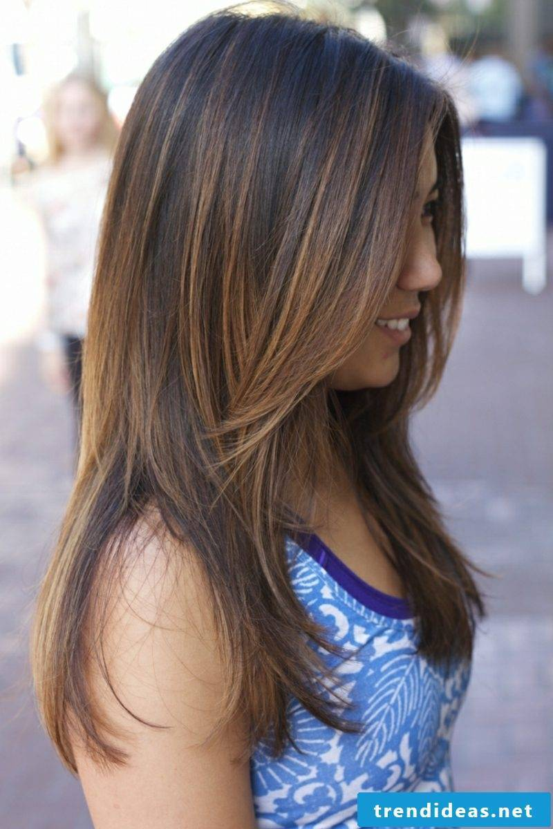 papinting hair balayage technique