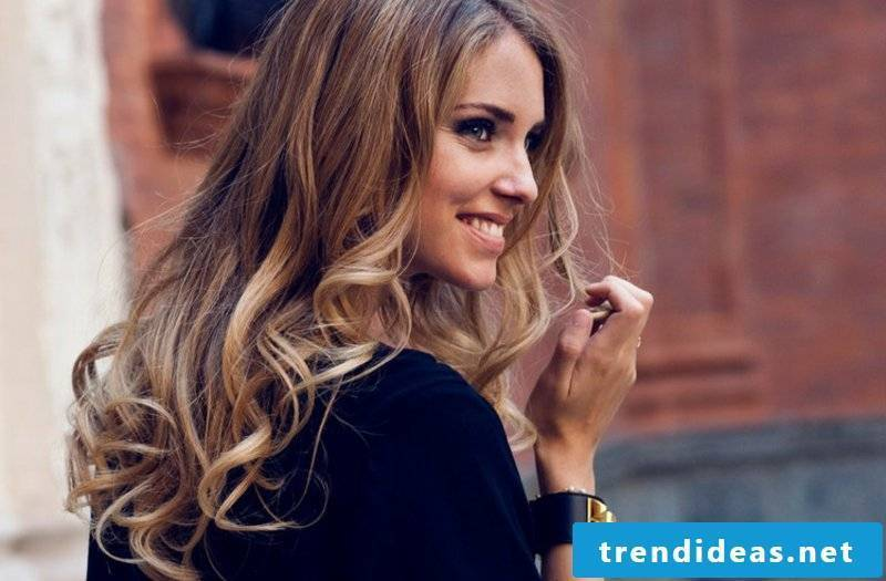 Sombre Babylights caramel hair color