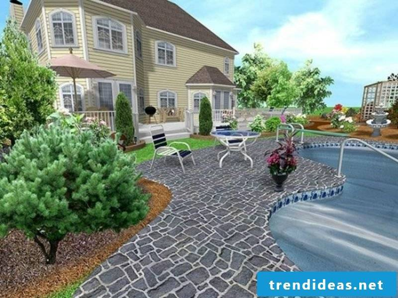 3D garden planner realistic look of the landscape