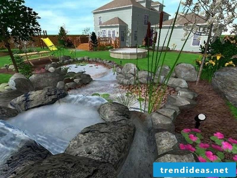 3D garden planner realistic illustration