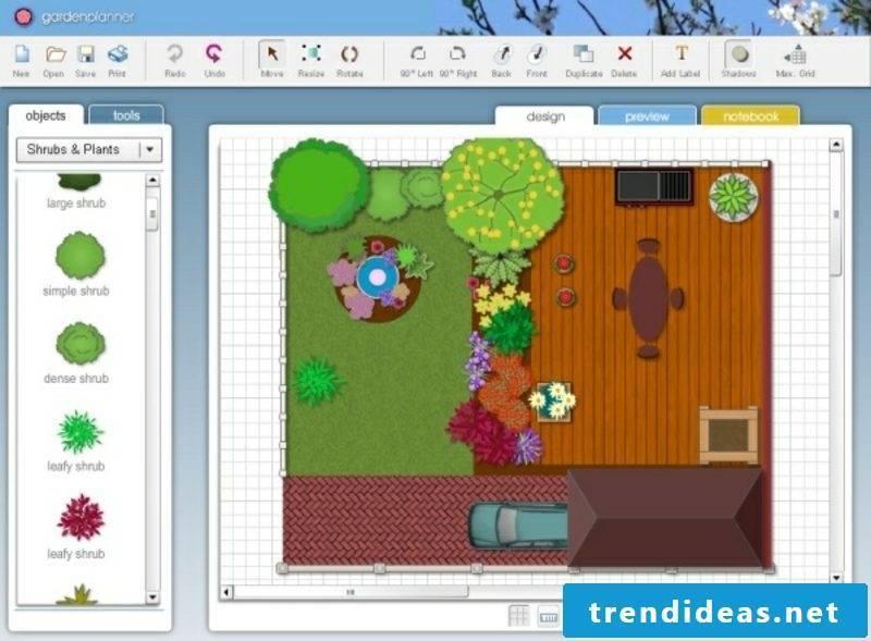 Landscape planning free software 2D