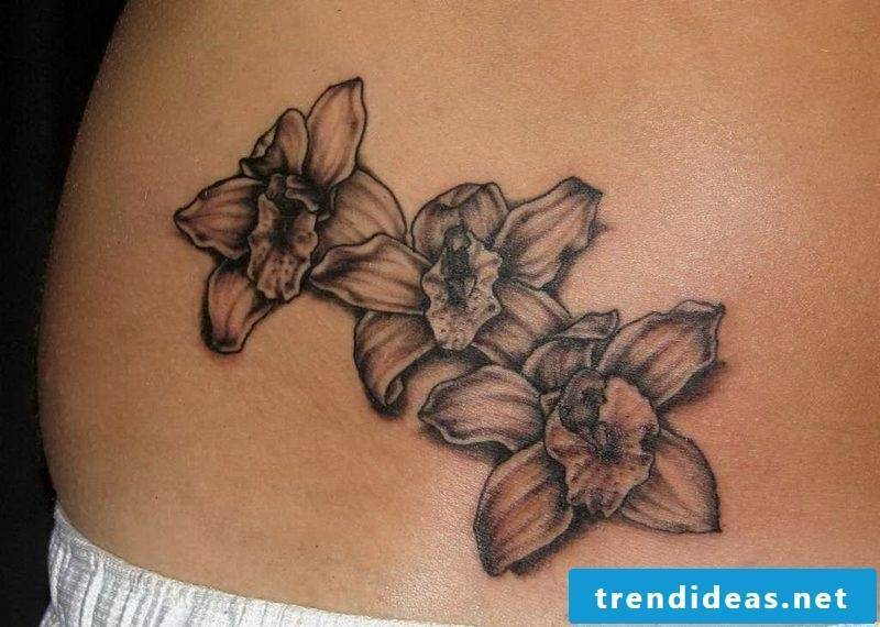 orchids tattoo