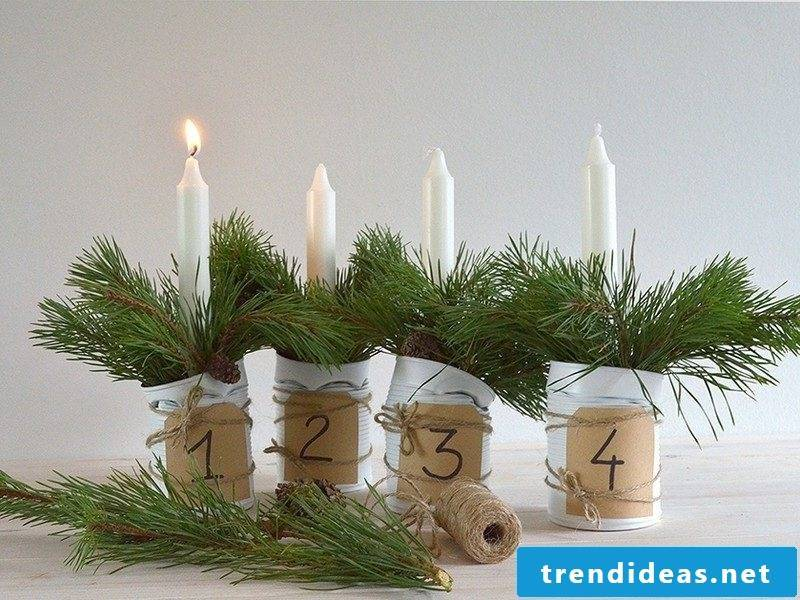 Advent wreath order modern design
