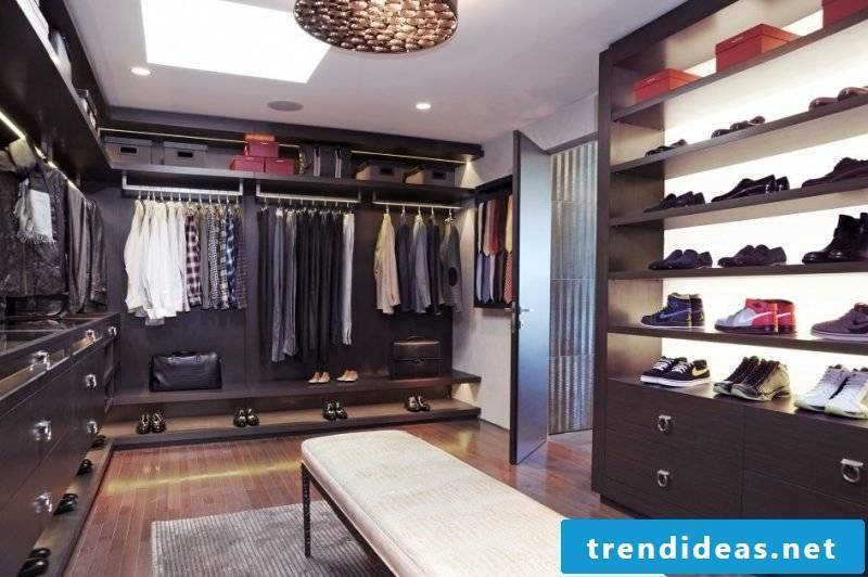 open shelving systems walk-in wardrobe daylight lamps shoes shirt box sofa furniture pieces
