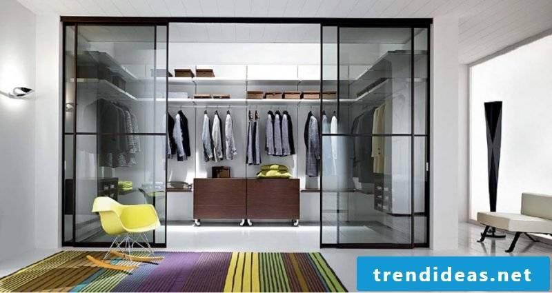 modern furnishing walk-in wardrobe carpet chair chic smbiente