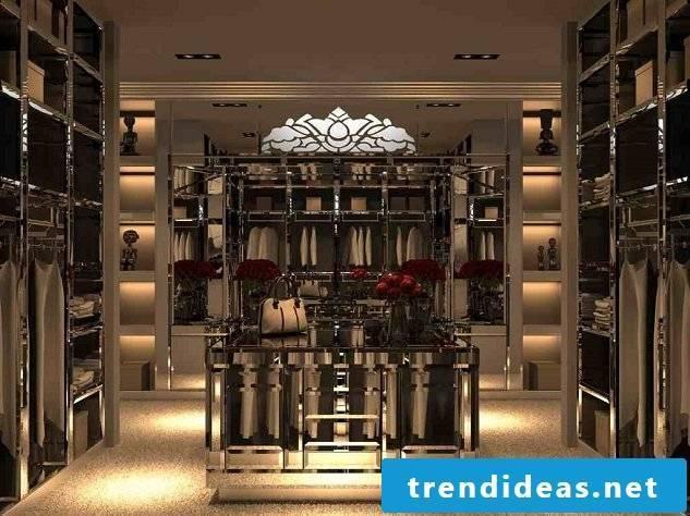 luxurious walk-in wardrobe comfort living style