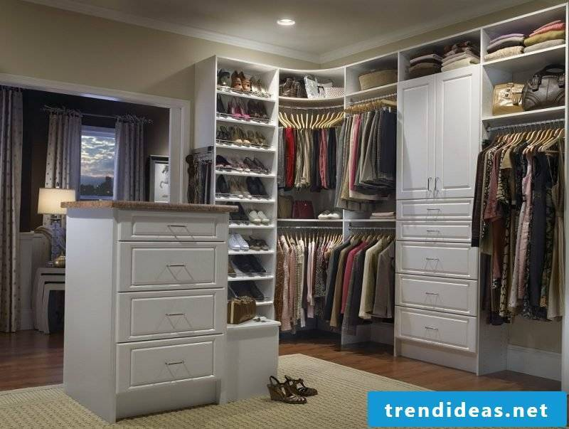 Walk-in wardrobe: clothes need their home