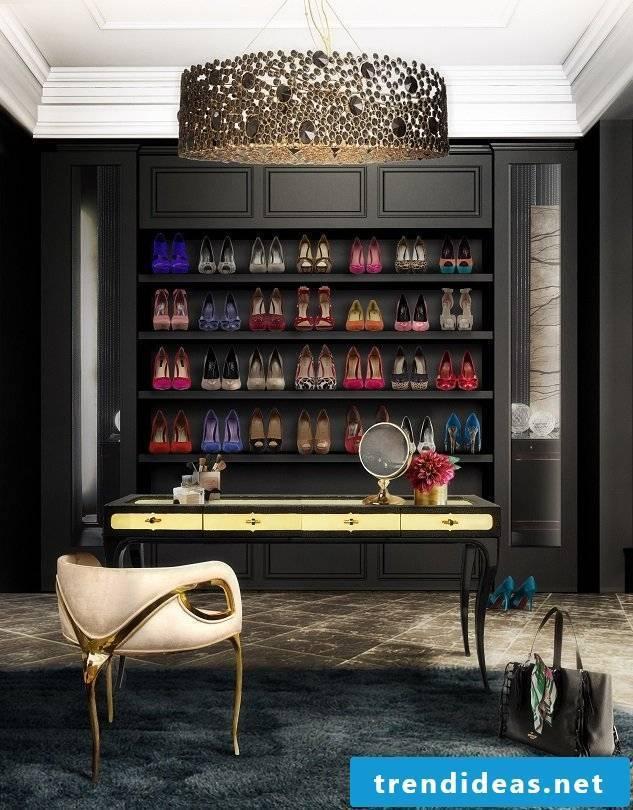 walk-in wardrobe store shoes