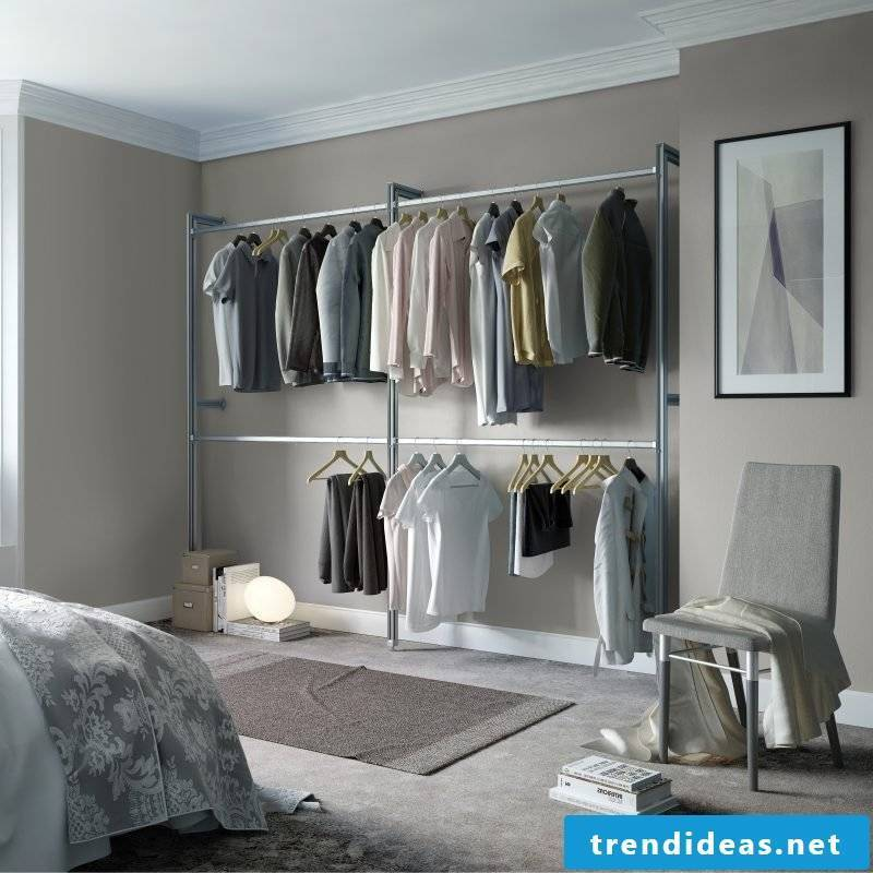 Walk-in wardrobe Shelving systems also for the men