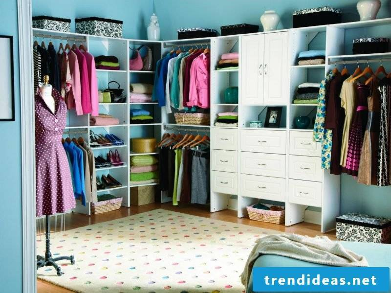walk-in wardrobe open shelving systems make bedroom furniture pieces yourself
