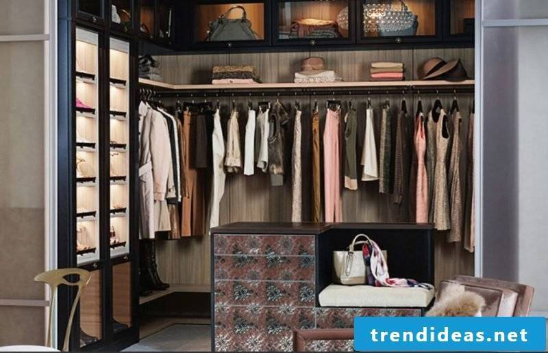 dressing room walk-in wardrobe armchair pillow pink