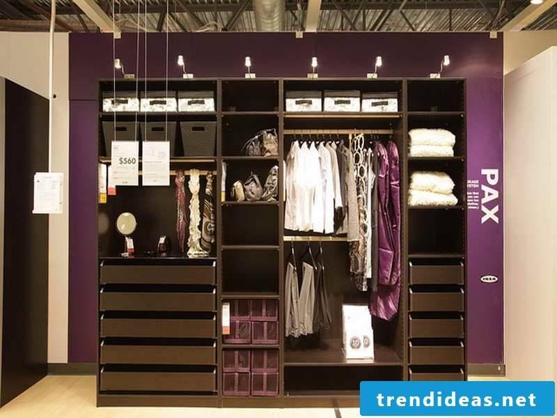 IKEA walk-in wardrobe: ideas for open shelving wardrobe!