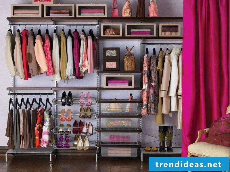 walk-in wardrobe plan open shelving ideas