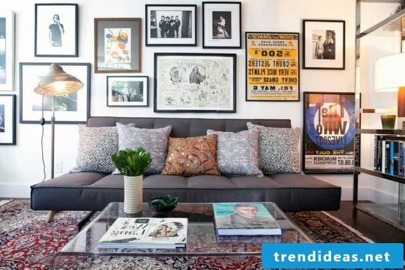 Living room original furnishings oriental rug