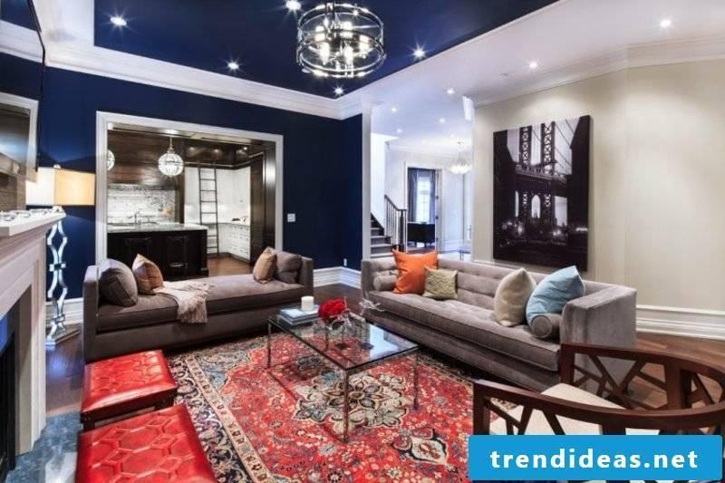 modern living room oriental carpet as an accent