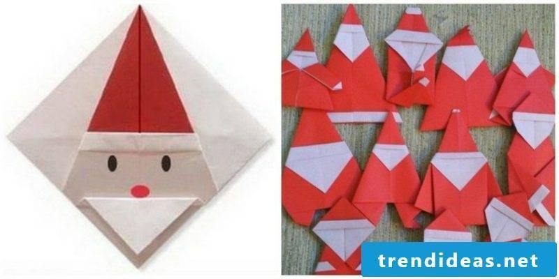 Origami Christmas creative ideas Santa Claus
