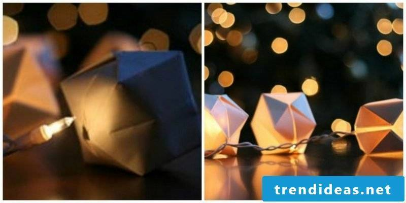 Spice up the origami Christmas fairy lights