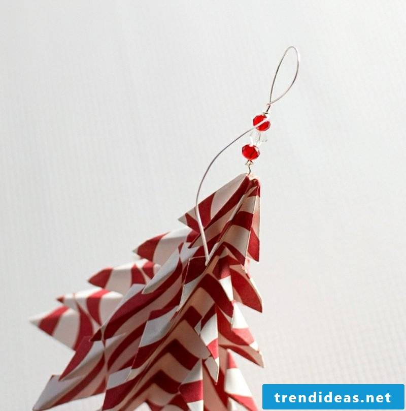 Origami Christmas fir-tree from colorful paper