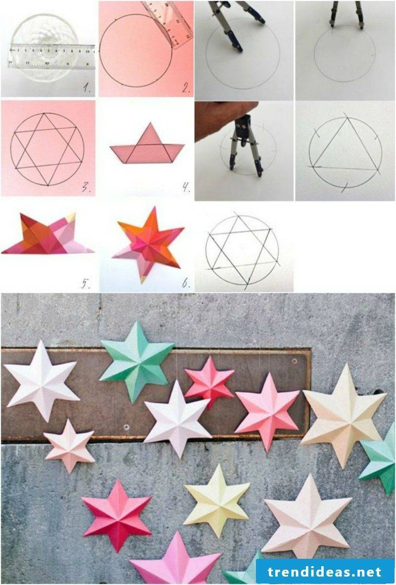 Origami Christmas star picture tutorial