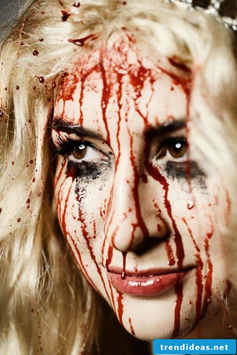 Halloween Makeup Tips Women's Fake Blood