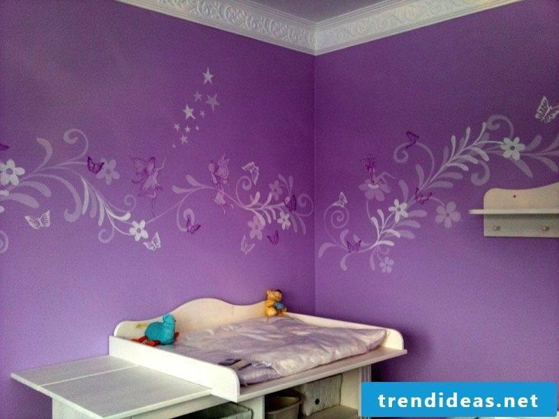 Mural in Purple Nursery