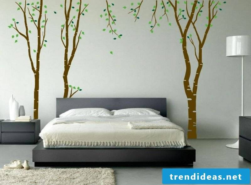 creative wall painting bedroom