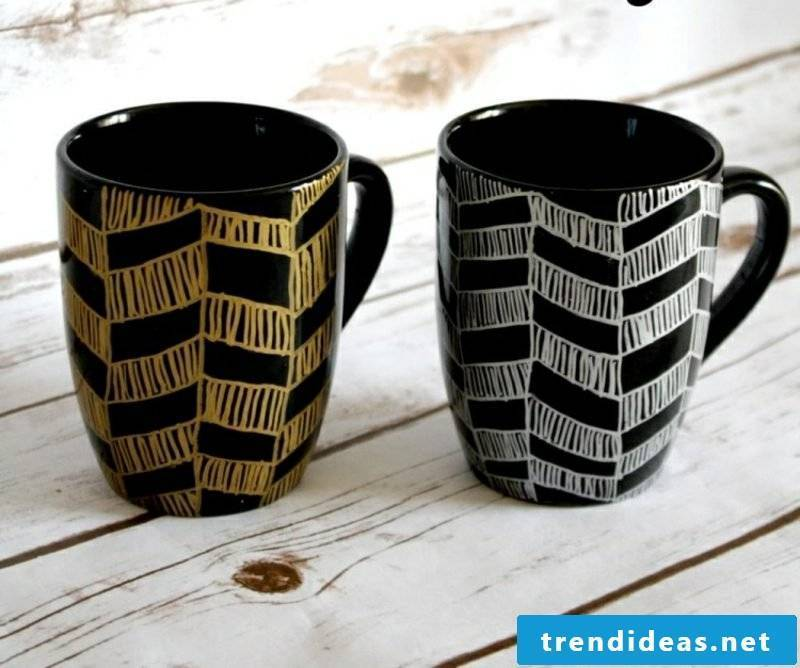Make yourself cups black porcelain