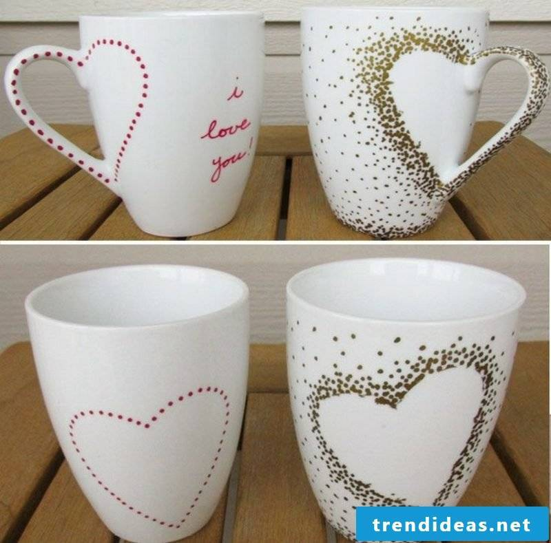 Create your own cup of heart wonderful design