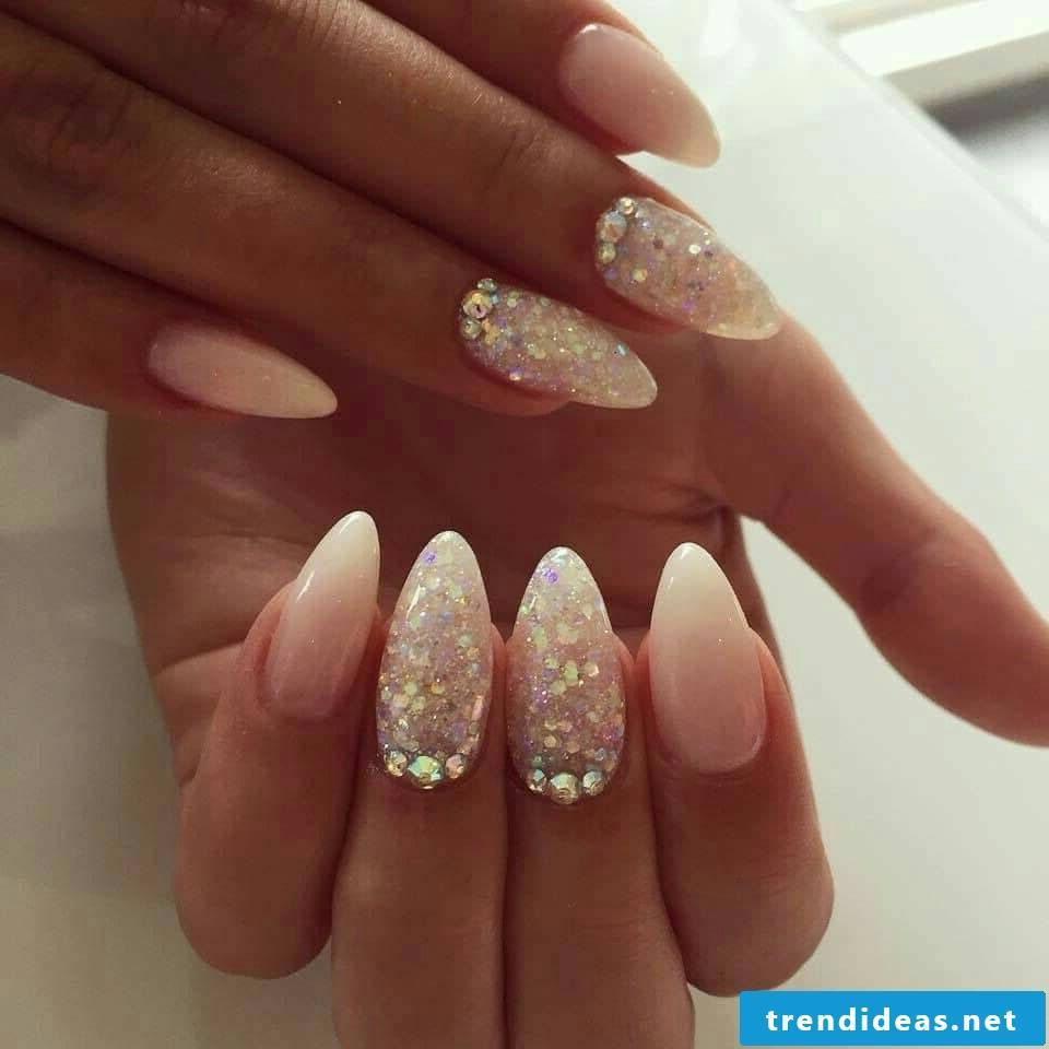 Glitter manicure - chic nail design