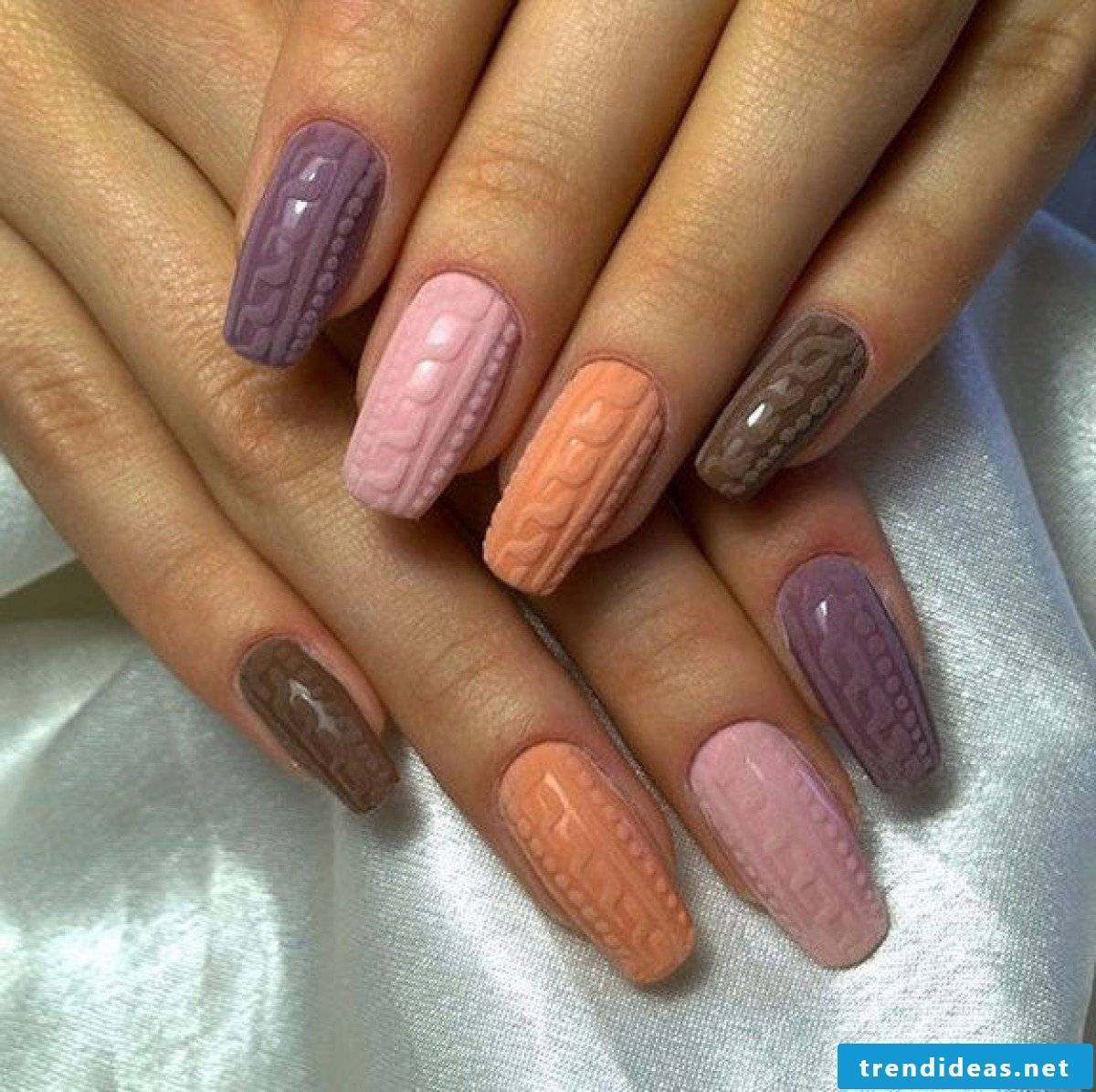 colorful acrylic nails