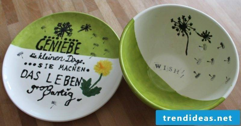 painted porcelain dishes