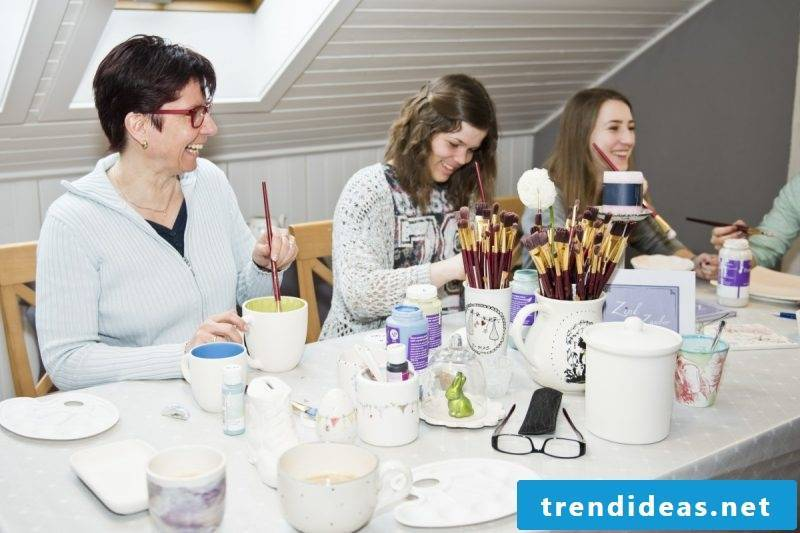 Painting hobby porcelain