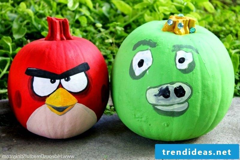 Pumpkin paint angry gourds