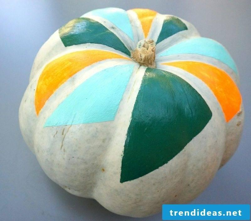 Pumpkin painting Colorful no-carve pumpkin