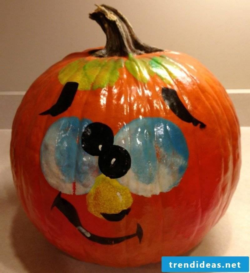 Pumpkin paint painted pumpkin